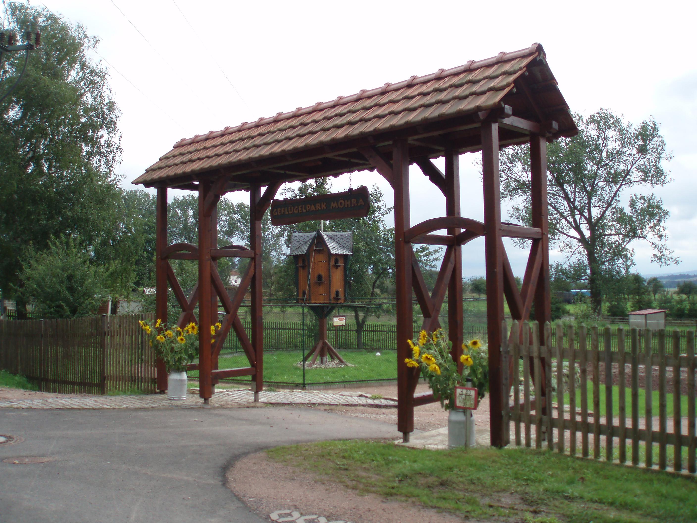Eingang Geflügelpark Möhra
